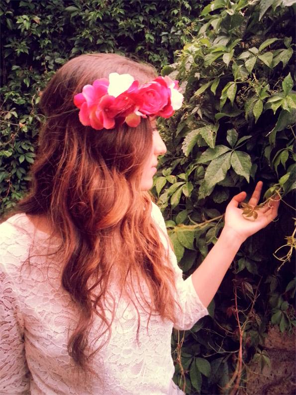 la tarara corona flores de novia o invitada