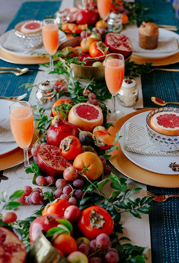 Centro de mesa fruta verano