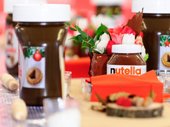 Decoración para evento corporativo Nutella